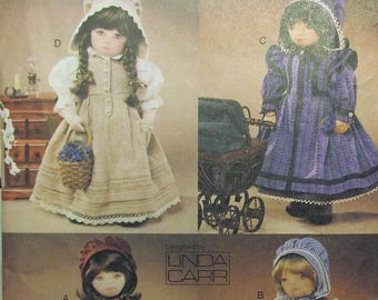 """Vogue Doll Collection 7564 OLIVIA 18"""" Doll Prairie Clothing Sewing Pattern Linda Carr UNCUT"""