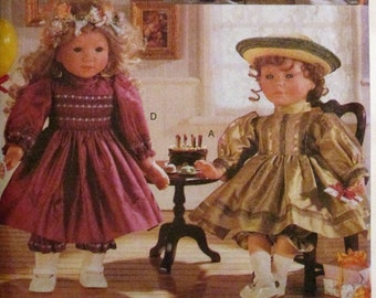 """Vogue Craft 9965 18"""" Doll Party Dresses Bloomers Clothes Sewing Pattern Linda Carr UNCUT"""