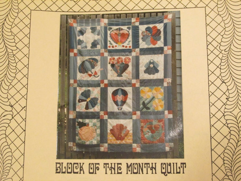Osage County Quilt Factory Block Of The Month Calendar Quilt Pattern Applique Over Patchwork