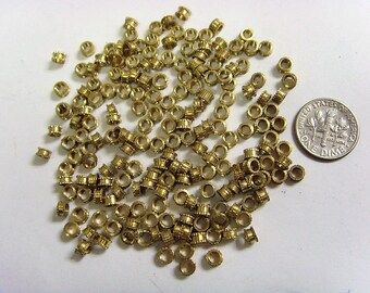 200 golden metal cog wheel collar spacer beads jewelry making components lot 4 mm et1446