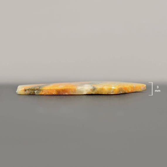 Bumble Bee Jasper cabochons for Jewelry Making /& Wire Wrapping 42 x 14 mm Stone-SS1001 In pairs Freeform Shape