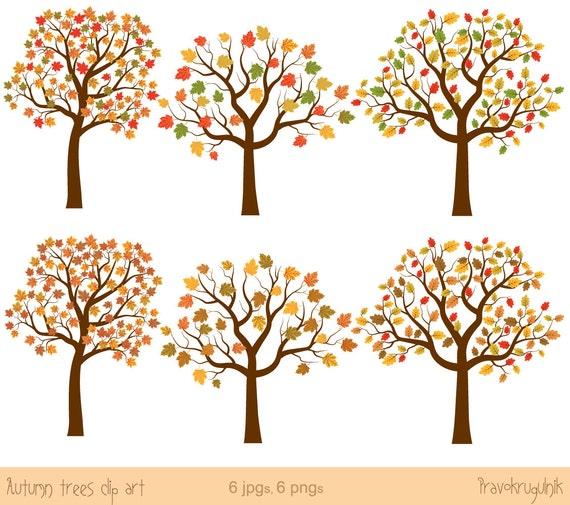 Herbst Baum Clipart Herbst Baum Clipart Clipart Eiche Ahorn Etsy