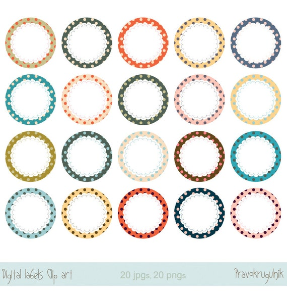 round labels clipart circle frame clip art round border etsy