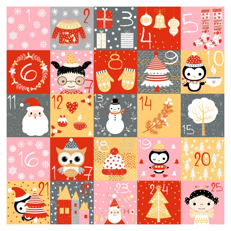 image relating to Advent Calendar Numbers Printable identified as Printable introduction calendar quantities, Electronic Xmas countdown calendar, Adorable do it yourself Xmas introduction calendar immediate down load December playing cards