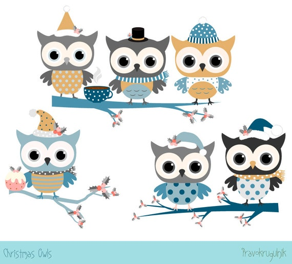 cute christmas owl clip art kawaii christmas bird clipart. Black Bedroom Furniture Sets. Home Design Ideas
