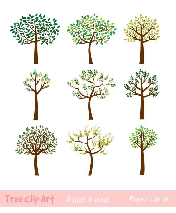 tree clipart family tree clip art whimsical tree green leaf etsy