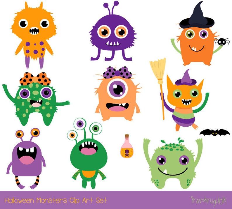a6f7e5d62e59 Cute Halloween monster clip art Halloween clipart Fun