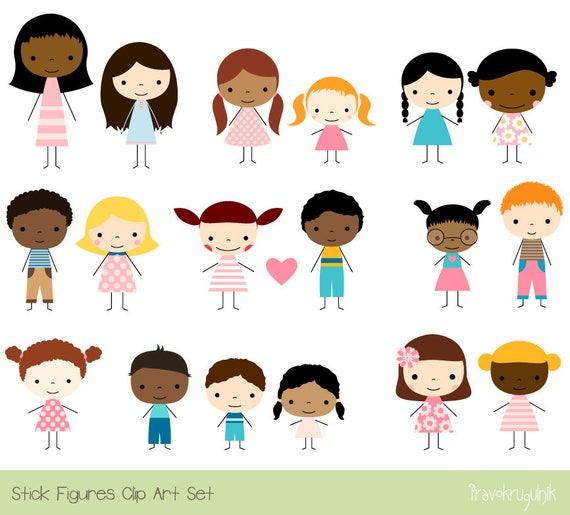 Cute Children Clipart Multicultural clip art multiracial ...