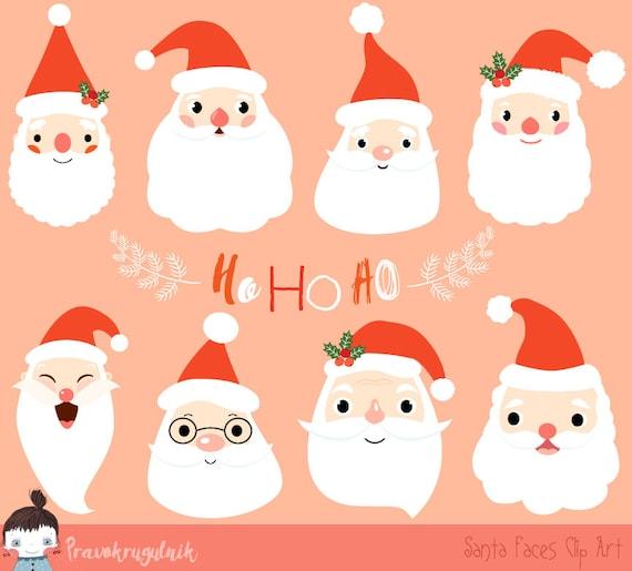 cute santa clipart christmas santa clip art santa face etsy rh etsy com santa claus face clip art santa face clipart round