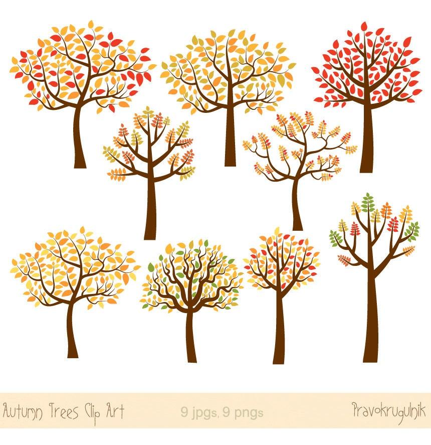 Autumn tree clipart Fall tree clip art Fall season clipart ...