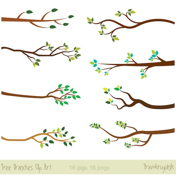 Tree Branches Clipart Tree Branch Clip Art Bare Branch Etsy