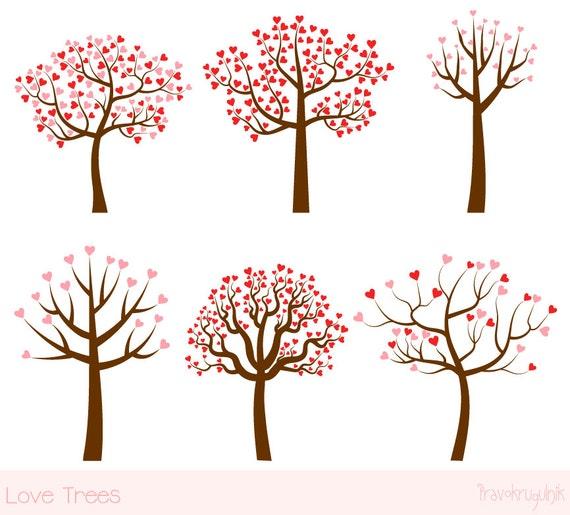 Liebe Baum Clipart Set Hochzeit Baum Clip Art Valentinstag Baum Cliparts Familie Rosa Herzen Digitale Baum Grafik Sparen Das Datum Clipart