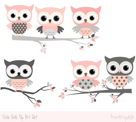 Baby Shower Owl Clipart Images Cute Owl Kawaii Clip Art Etsy
