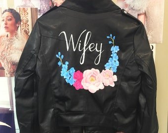Wifey leather jacket facial