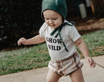 Grow Wild, Organic Cotton, Baby, Toddler, Custom
