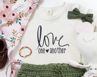 Love one another, kindness, organic, Baby, toddler, Love, Custom