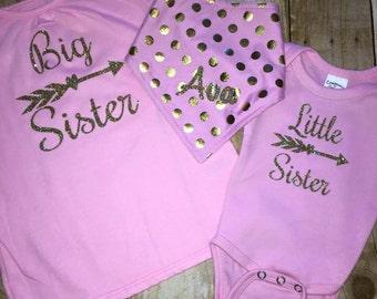Big Sister , Little sister shirt sets ! and brother shirts too !!