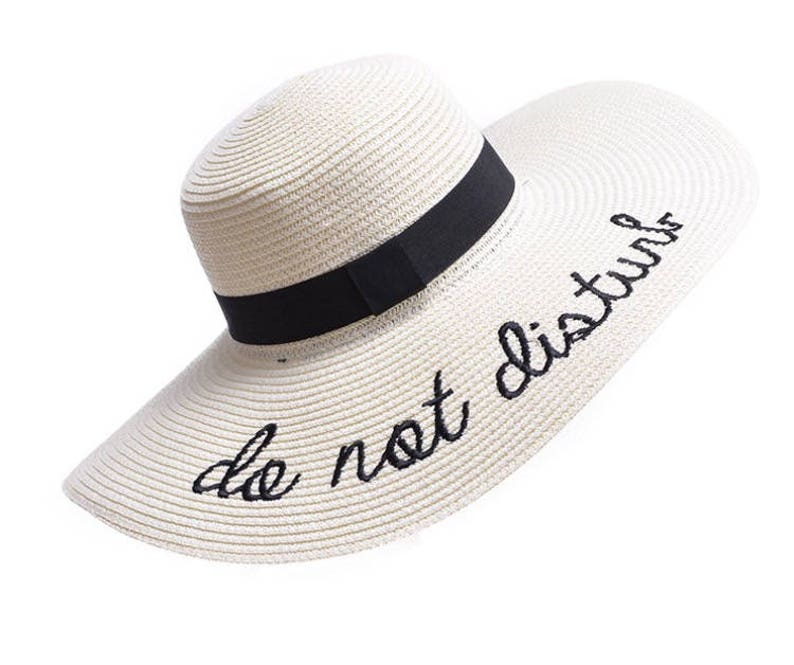 9ee797af6e5 HOTTEST Hat of the Summer Do not disturb Wide brim sun