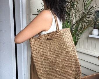 Wicker tote, wicker bag, woven tote, woven bag, straw tote, straw bag