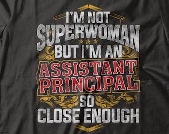 b937c7f78 Superwoman Assistant Principal T-Shirt Funny Gift