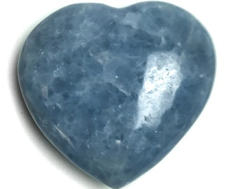 Blue Calcite Heart From Mexico