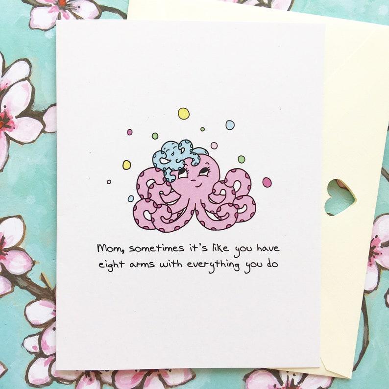 Octopus Card Mom Birthday Happy