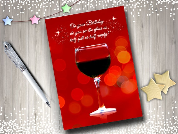 Wine Country Birthday Card Funny