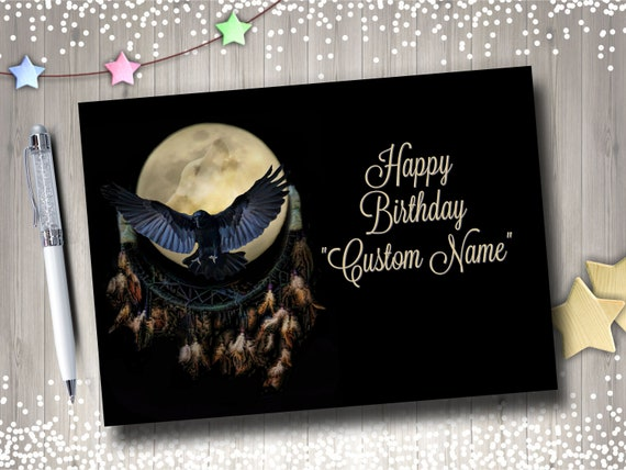 Custom Birthday Card Personalized Birthday Name Card Etsy