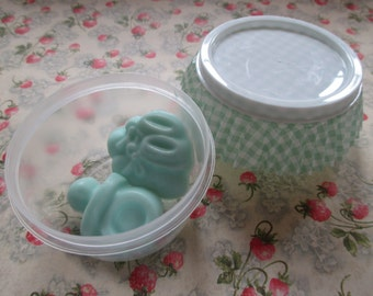 Baby shower, Party favor, Pacifier, Booty, soaps, green, mint, set of 10