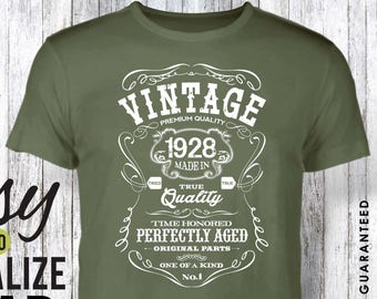 90th Birthday Gifts For Men Gift Tshirt 1928 Women Vintage