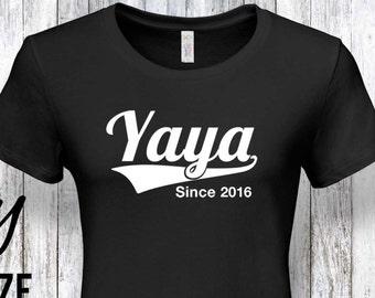 Yaya Cadeau Yaya Famille Anniversaire Yaya Yaya Chemise Etsy