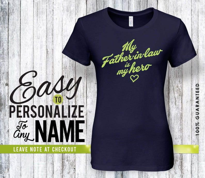 family father-in-law shirt birthday gift birthday Father-in-law hero shirt personalized gift family shirt pregnancy announcement