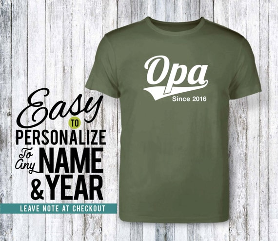 birthday gift personalized gift family Opa to be tshirt 50s family shirt opa gift shirt birthday shirt birthday family tree 40s