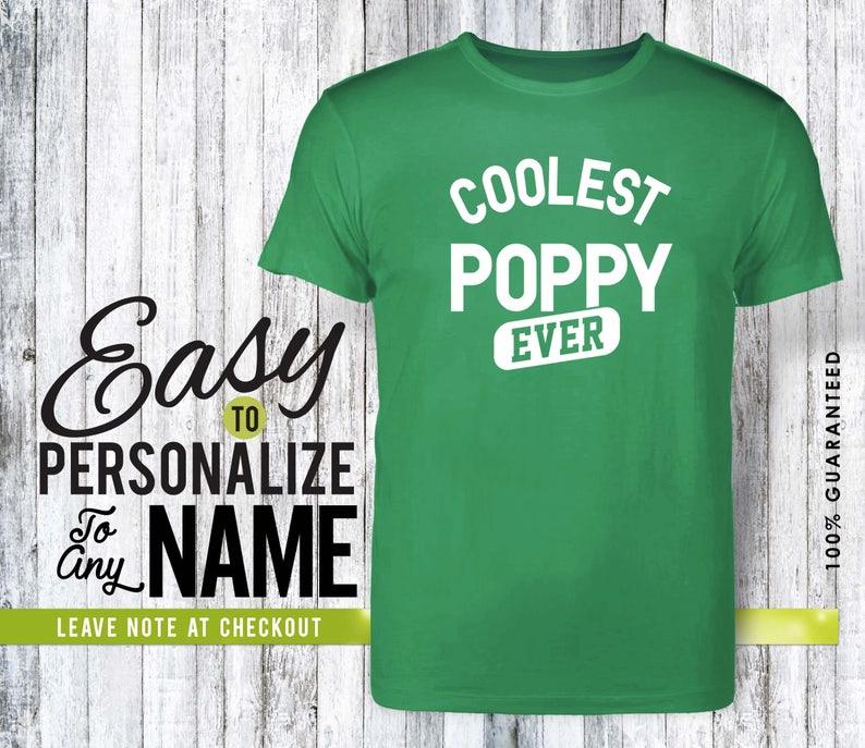 poppy shirt family shirt gift family hero shirt birthday amor love pregnancy announcement birthday gift personalized gift Poppy