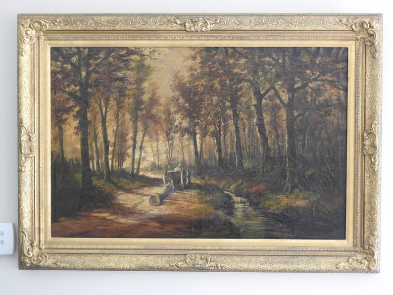 ac81a37df55 Exceptionally rare Thomas Hill 1867 oil on canvas with