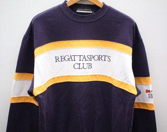 62fc58dbcaf943 Vintage REGATTA SPORTS CLUB Big Spell Sportswear Blue Pullover Sweater  Sweatshirt Size Xl