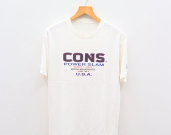 67b764c16448 Vintage CONVERSE All Star Chuck Taylor Streetwear White Tee T Shirt Size M
