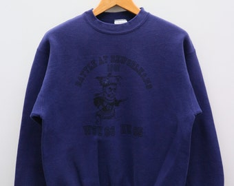 f2d08b15 Vintage WSU 66 KU 65 Washington State University Battle At New Orleans Big  Logo Big Spell Blue Pullover Sweater Sweatshirt Size L