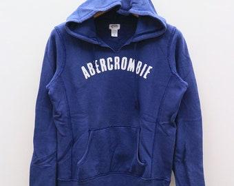 d98c072013ad Vintage ABERCROMBIE Big Spell Blue Hoodies Pullover Sweater Sweatshirt Size  S