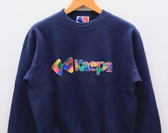 Vintage KAEPA Big Logo Sportswear Blue Sweater Sweatshirt Size L