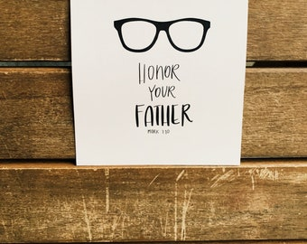 Custom Fathers Day Greeting Card, Hand lettered Card, Personalized Card, Fathers Day Card, Happy Fathers Day, Dads Day, Love