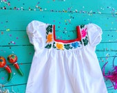 1st Birthday Dress for Little Girls, Baby Girl Dress, Baby Mexican Dress, Birthday Smash Cake, Birthday Girl Outfit, 12 Months Baby Dress
