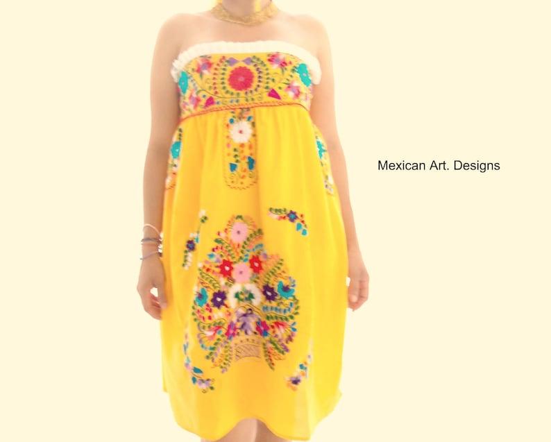 4ffd5677fe Embroidered Mexican Dress, Boho Dress, Bohemian Dress, Bridesmaid, Beach  Dress, Mexican Folk Dress- Free Shipping
