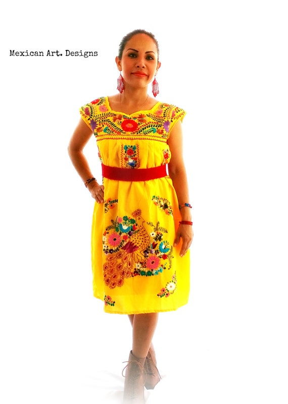 Hand Mexican Dress Shipping Dress Beach Embroidery Boho Folk Cotton Free Mexican Dress Dress Eloisa Bridesmaid Dress Bohemian SwRq4S