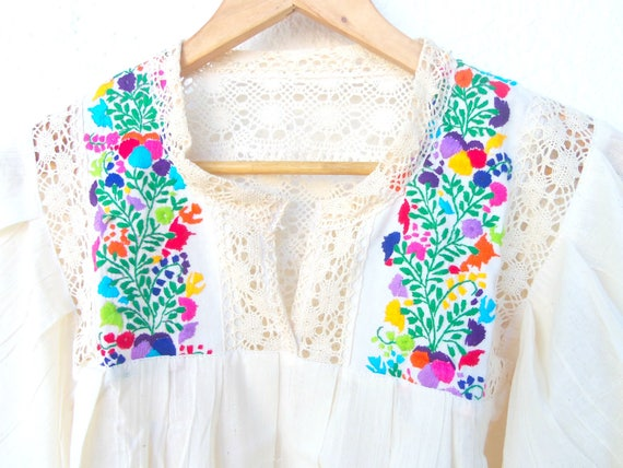 Valeria Mexican Blouse Embroidered Mexican Gauze Embroidered Valeria Gauze dnTxw0T8qv