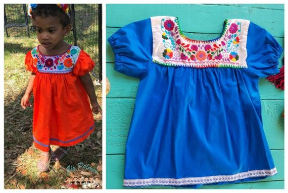 Mexican Dress Embroidered Dress For Girls Clothing 12-19 Months Mexican  Toddler Dress fiesta party dress baby dress baby clothing