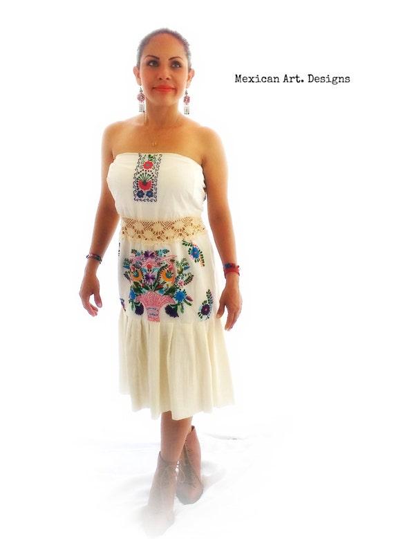 Short Wedding Dress Strapless Mexican Dress Reception Dress Etsy