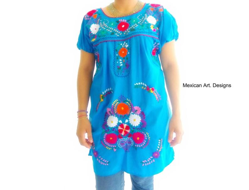Licht Blauwe Jurk : Licht blauwe korte jurk jurk borduurwerk mexicaanse blue etsy