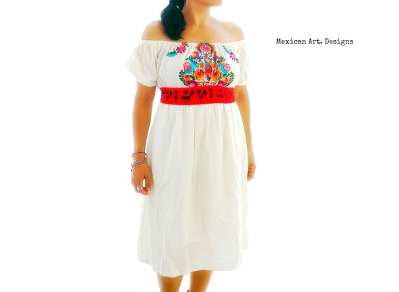 Dress Mexican Coachella Wedding Strapless Bohemian Embroidered qRwxwBSg