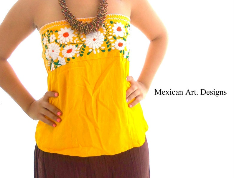 4d52c0512c Boho blouse, Mexican blouse, Embroidered blouse, Strapless Blouse , boho  fashion, Mexican embroidered blouse, peasant blouse, frida blouse